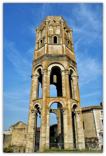 The Charlemagne Tower of the Abbey of Charroux