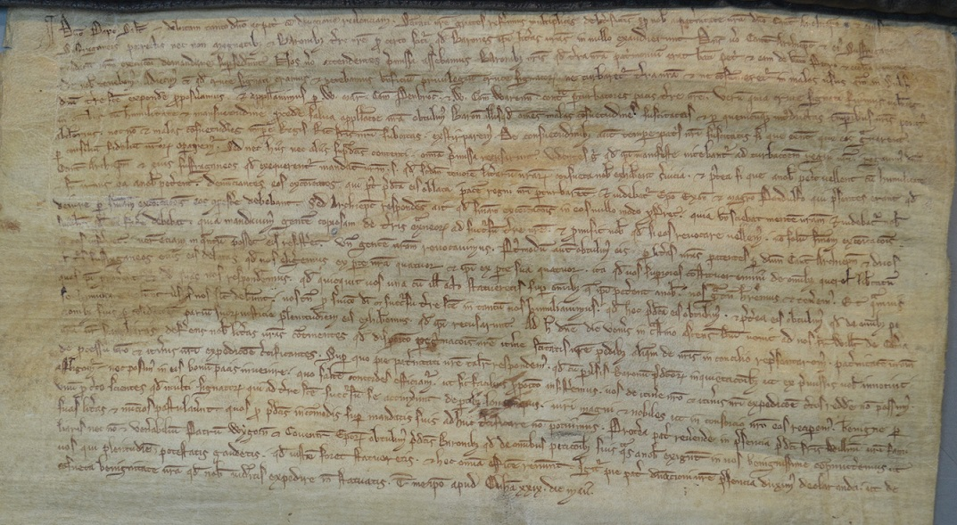 Letters of King John to the Pope reporting on his recent disputes with the barons and the archbishop of Canterbury