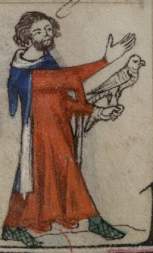 Man with falcon, BL Yates Thompson MS 13 f.179v