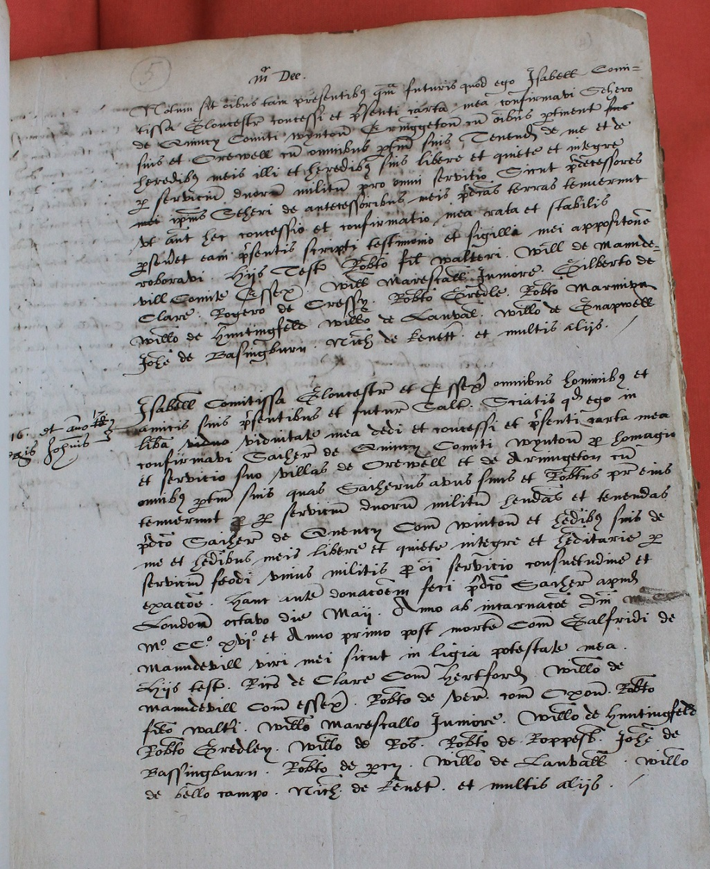 Charters of Isabella countess of Gloucester