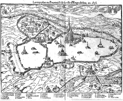 Magna carta project king john 39 s diary itinerary john for Plan angouleme 16