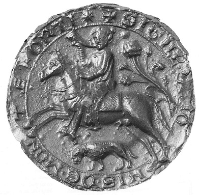 Replica seal of Simon IV de Montfort (d.1218)