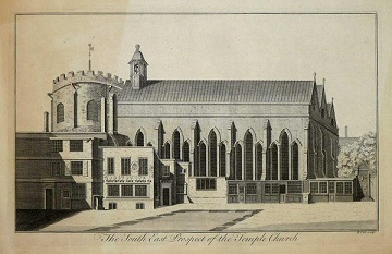Engraving of Temple Church (18th century)