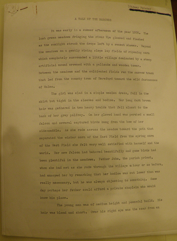The opening page of Painter's short story