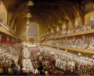 George IV's coronation banquet indicates capacity of Westminster Hall