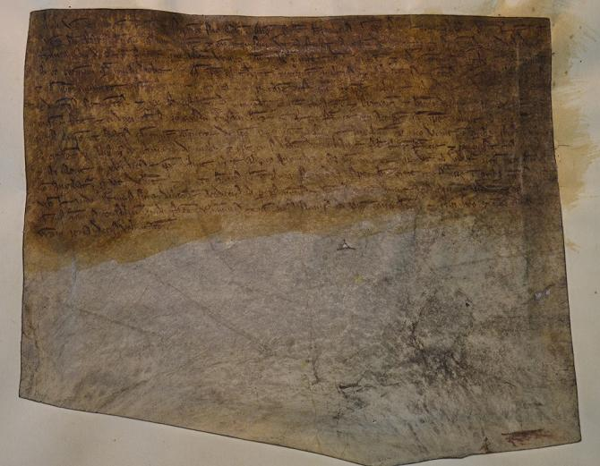 Letter of Aimery vicomte of Thouars, TNA SC 1/11 no.27