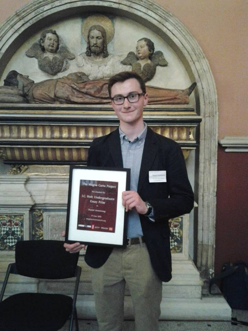magna carta project j c holt essay prize daniel armstrong joint winner of the j c holt undergrduate essay prize